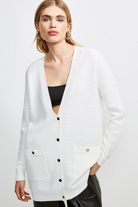 Karen Millen Texture Knit Slouchy Cardigan