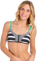 Hobie Surfin' Stripe Crop Bra Bikini Top 8123747