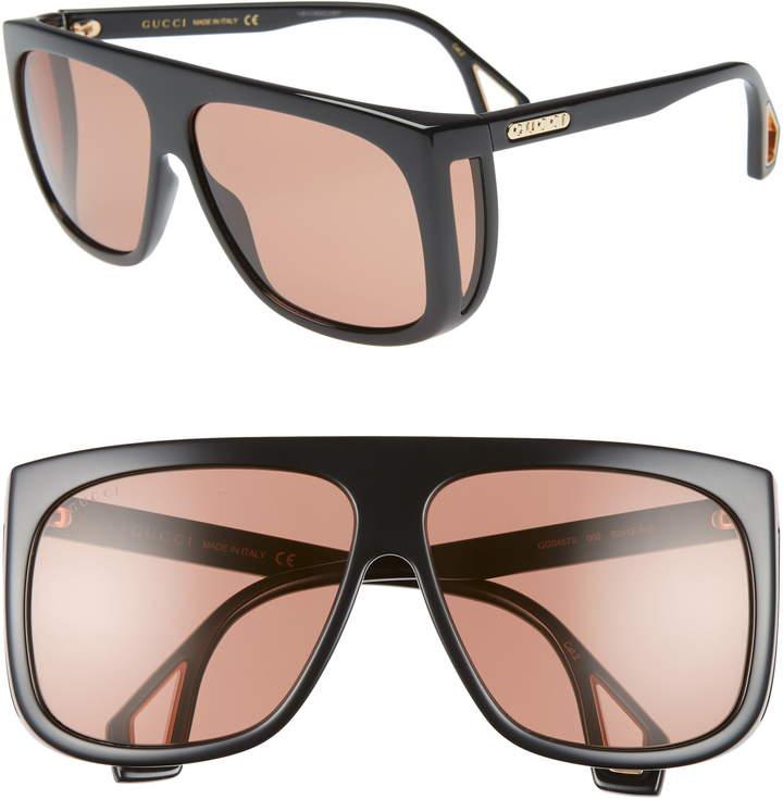 fd7553dddae16 Oversized Black Aviator Sunglasses - ShopStyle