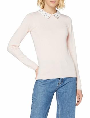 Dorothy Perkins Women's Blush 2 in 1 Spot Collar Jumper Pullover Sweater 6