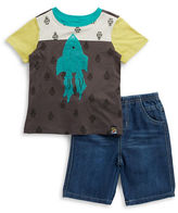 Charlie Rocket Baby Boys Rocket Tee and Shorts Set