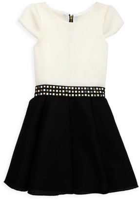 Zoe Girl's Embellished Skater Dress