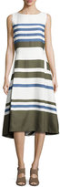 Loro Piana Mallorie Marvelous Twill Dress, Orion Blue/Cirus