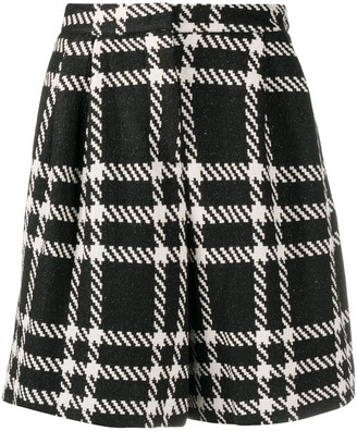 FEDERICA TOSI Plaid Pleated Shorts