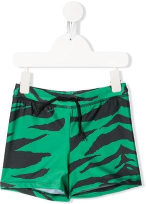 Mini Rodini Tiger print swim shorts