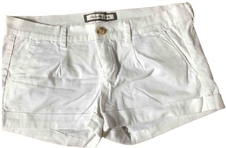 Abercrombie & Fitch White Cotton - elasthane Shorts for Women