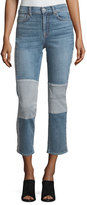 7 For All Mankind Edie Straight-Leg Denim Jeans w/ Reverse Panels