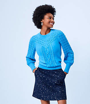 LOFT Bobble Cable Sweater