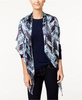 Vince Camuto Herringbone Textures Oblong Scarf