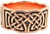 I Love Copper Rings - Size 8 Solid Copper Celtic Knot Band Ring Size 8 - CTR661 - 3/8 of an Inch Wide.
