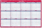At-A-Glance PM2628 Reversible/Erasable Vertical/Horizontal Yearly Wall Calendar, 24 x 36