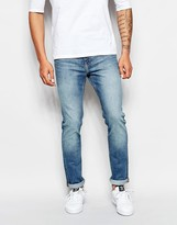 Weekday Jeans Friday Skinny Fit Cotton Blue Mid Wash