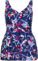 Maxine Of Hollywood Plus Size Printed swimsuit