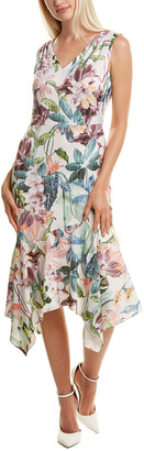Maggy London Printed Midi Dress