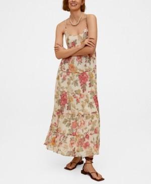MANGO Women's Floral Print Long Dress