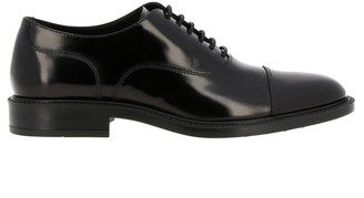 Tod's Brogues In Brushed Leather With Rubber Sole