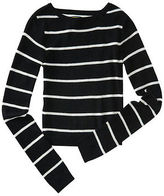 Aeropostale Womens Prince & Fox Striped Crop Sweater