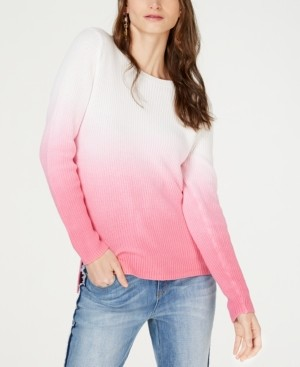 INC International Concepts Inc Cotton Dip-Dye Pullover Sweater, Created for Macy's