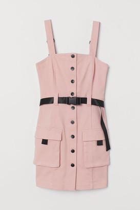 H&M Denim Overall Dress - Pink