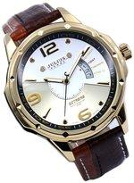 Julius Men's Casual Quartz Watch Multi-Function Dial Date Display Leather Strap JAH-033