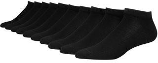 Hanes Mens FreshIQ Low Cut Cushion Socks, 12 Pack, White, Size 6-12
