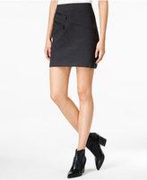 Bar III Zip-Detail Mini Skirt, Only at Macy's