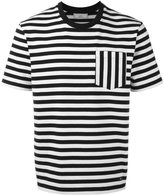 Ami Alexandre Mattiussi striped pocket T-shirt - men - Cotton - S