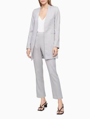Calvin Klein Textured Slim Fit Cropped Pants