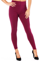 Missy Empire Dina Wine Plain Legging