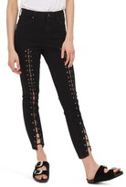 Topshop Women's Jamie Front Laced Skinny Jeans