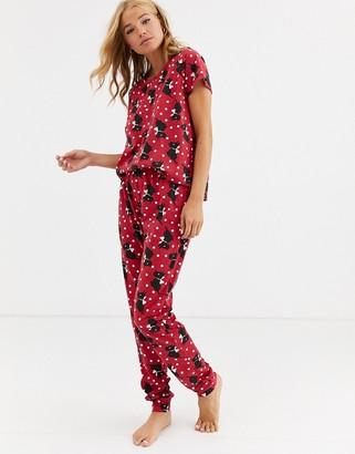 Loungeable scottie dog pyjama legging set