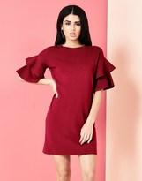 Yumi Frill Sleeve Knit Dress