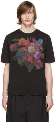 Dries Van Noten Black Floral Print T-Shirt