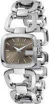 Gucci YA125507 G Collection polished steel watch