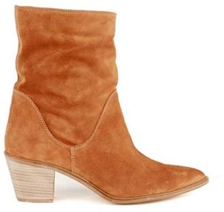 Mint Velvet Kara Rust Suede Slouch Boots