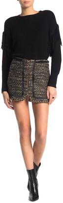 Ramy Brook Rhonda Tweed Zip Front Mini Skirt