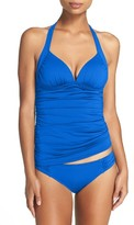 Tommy Bahama Women's Pearl Solids Plunge Halter Tankini Top