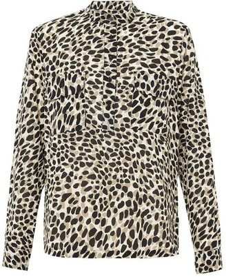 Great Plains Cara Leopard Print Round Neck Shirt