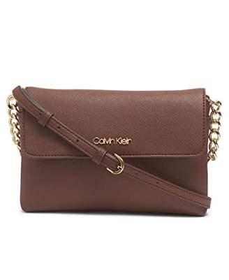 Calvin Klein Key Item Saffiano Flap Chain Crossbody