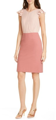 Tailored by Rebecca Taylor Short Sleeve Stretch Suiting Dress