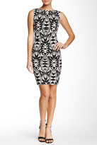 Nicole Miller Printed Jersey Bodycon Dress