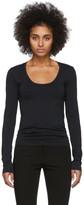 Helmut Lang Black Scoop Neck Long Sleeve T-Shirt