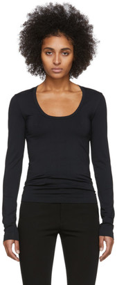 Helmut Lang Black Scoop Neck Long Sleeve T-Shirt