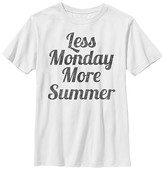 Chin Up Apparel Boys' Tee Shirts WHITE - White 'Less Monday More Summer' Tee - Boys