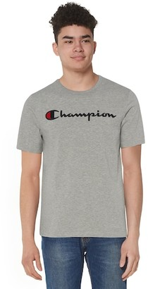 Champion Heritage Script Embroidered Short Sleeve T-Shirt - Oxford Gray