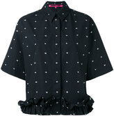 McQ by Alexander McQueen cropped ruffle shirt - women - Cotton - 38