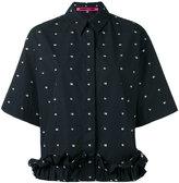 McQ by Alexander McQueen cropped ruffle shirt
