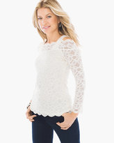 Chico's Lace Cold-Shoulder Top