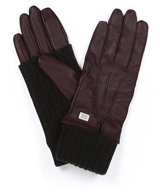 Soia & Kyo CARMEL DEWBERRY LEATHER GLOVES - SMALL