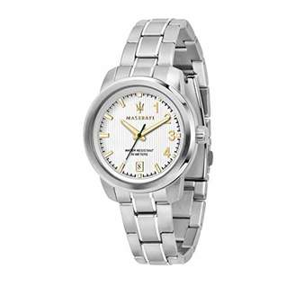 Three Hands Maserati Women's Watch, Royale Collection, Quartz Movement, with Date, Stainless Steel Watch - R8853137501